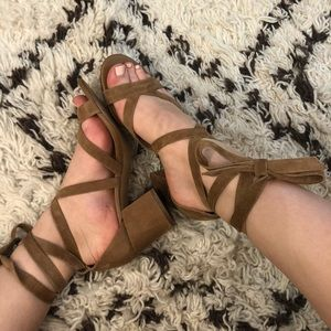 Sam Edelman Heeled Lace Up Sandals